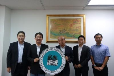 左から江藤教授、Wanasin副学部長、山下センター長、JASSO山本所長、山田副センター長
