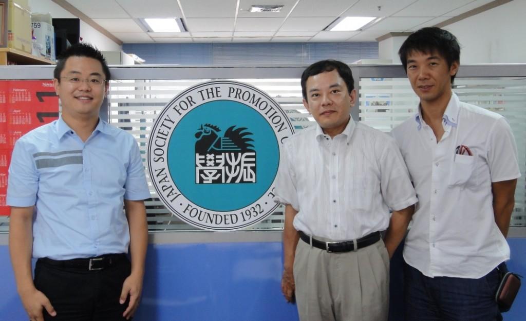 センター長、山岡教授、城戸博士