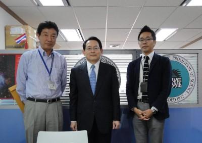 左から 萩原所長、樫尾理事、副センター長