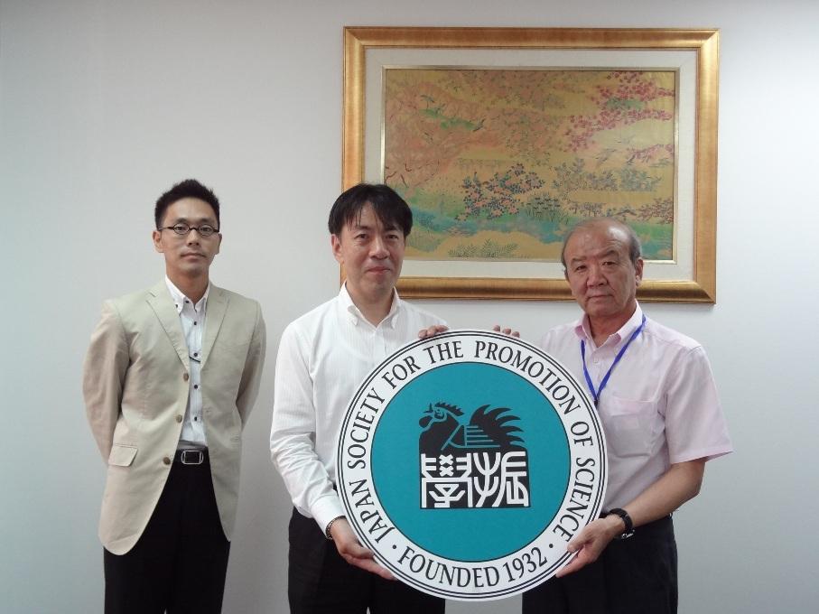 左から副センター長、正木コーディネーター、センター長