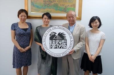左から藤枝、大澤リサーチアドミニストレーター、センター長、轟国際協力員