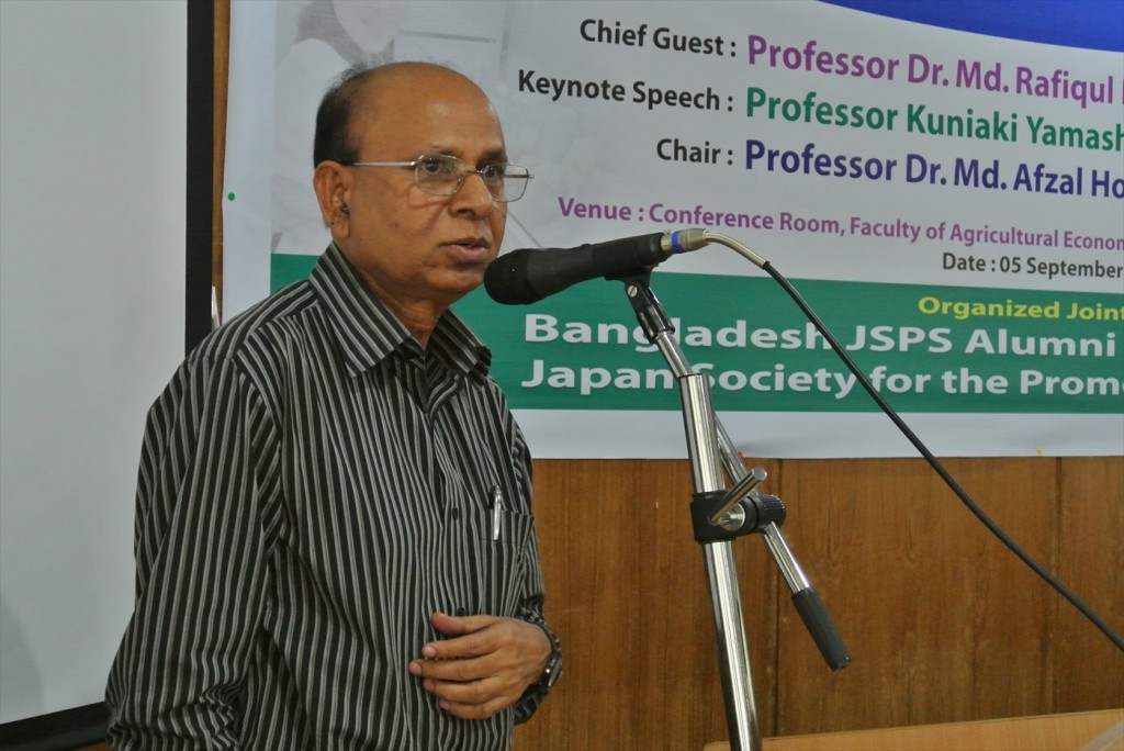 Prof. Dr. Hossain同窓会長