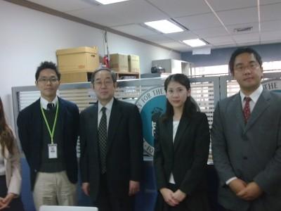 副センター長、山本教授、長江留学生支援室員、伊井学生生活チームメンバー