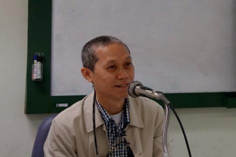 講演されるSiripong准教授