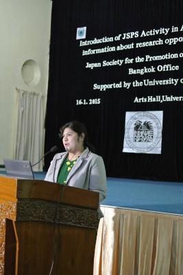 Dr. Kay Lwin Tuによる講演