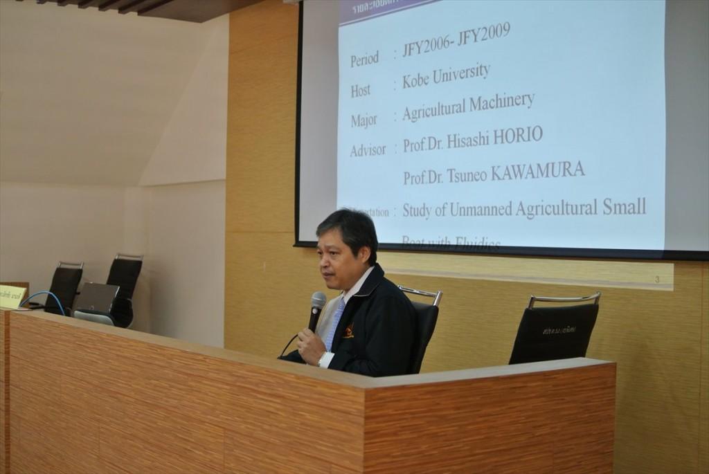 Chatchai助教による講演