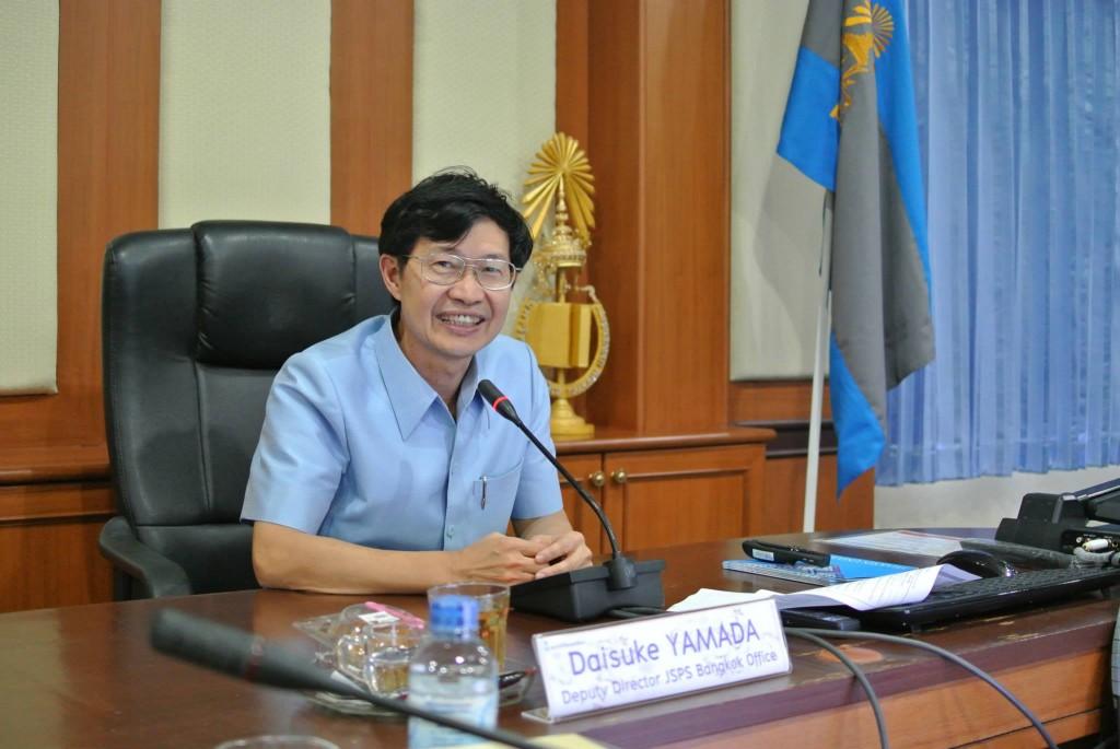 Dr. Kasem副学長の挨拶