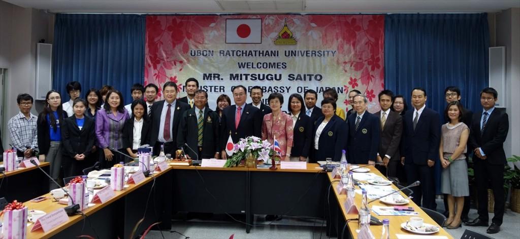 日本の代表団による表敬訪問