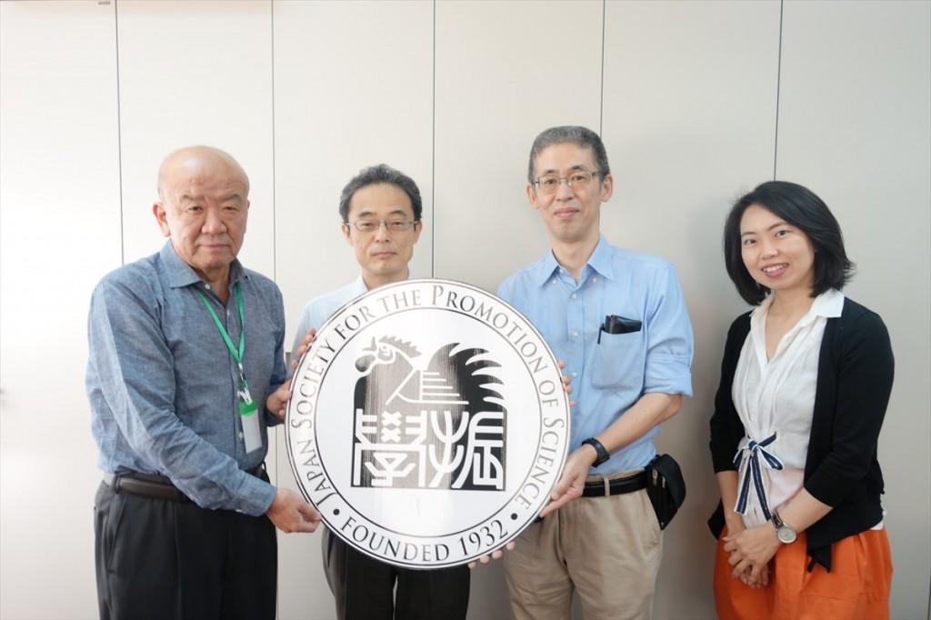 左から山下センター長、愛媛大学和気家副課長、村上准教授、古屋副センター長