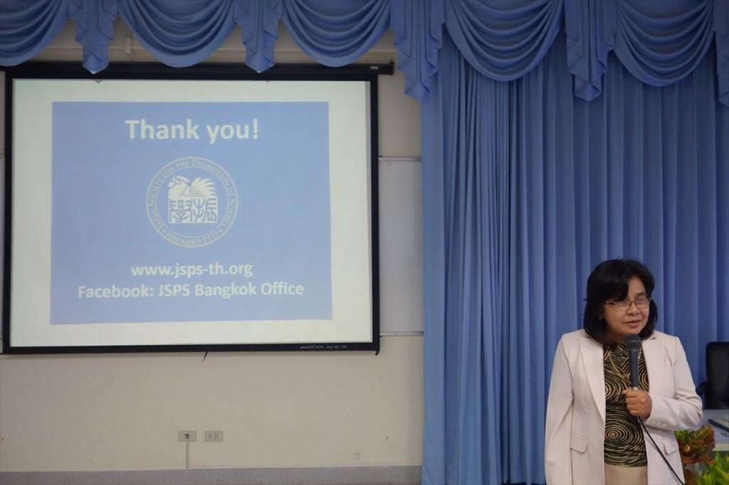 Ratchanee Mukhjang准教授からの体験談