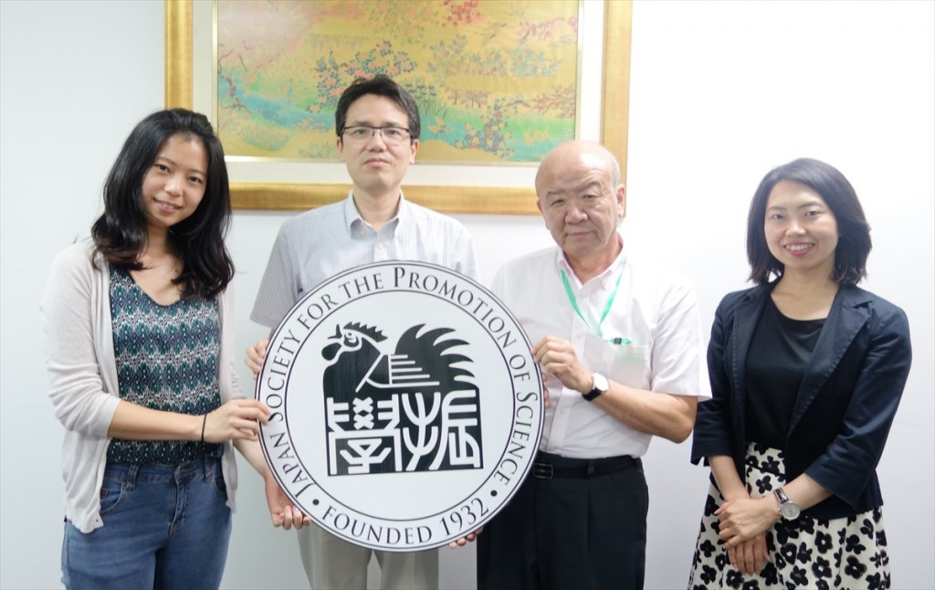 田澤さん、西澤副学部長、山下センター長、古屋副センター長