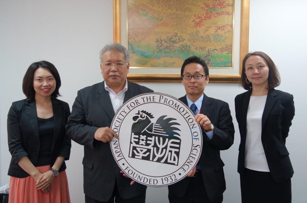 古屋副センター長、佐藤所長、小林主査、岸田e-ASIAスペシャルコーディネーター