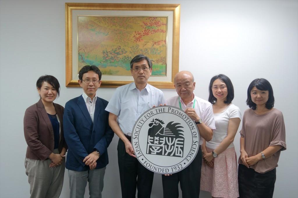 大澤URA、松島准教授、大津教授、山下センター長、古屋副センター長、辻国際協力員