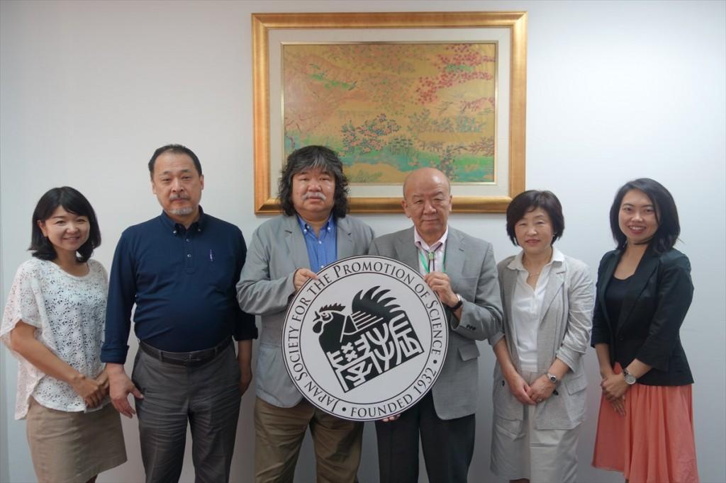 辻国際協力員、坂井教授、源田特任教授、山下センター長、後藤協力研究員、古屋副センター長