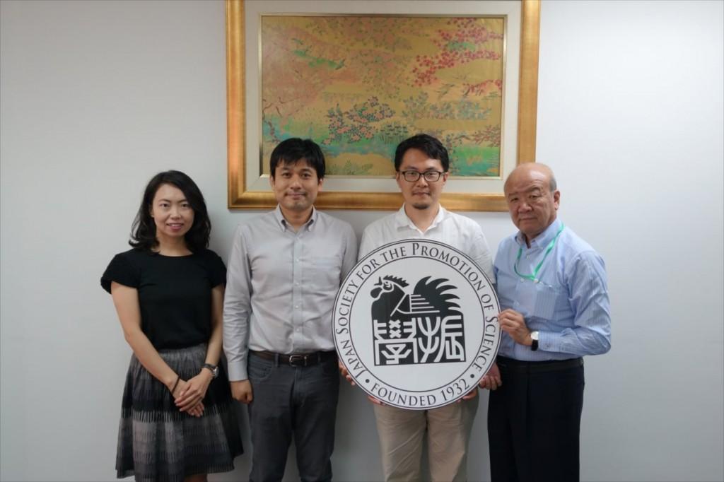 古屋副センター長、中西准教授、相澤准教授、山下センター長