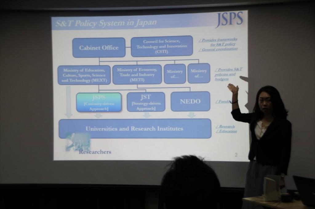 古屋副センター長によるJSPS概要説明
