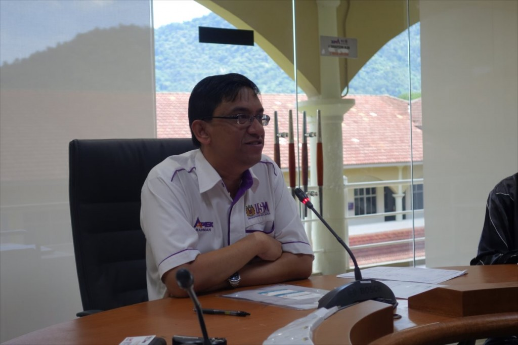 Abdul Rahman 副学長(Deputy Vice Chancellor)