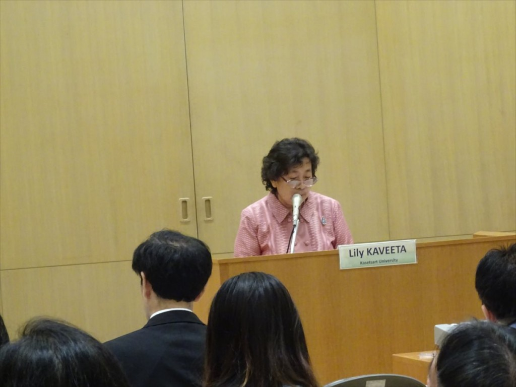 Lily Kaveeta 副学長(カセサート大学)