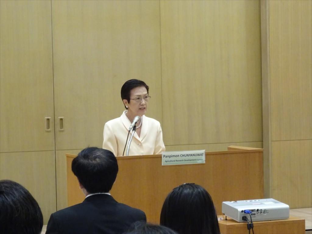 Panpimon Chunyanuwat 理事長(タイ国農業研究開発機構(ARDA))