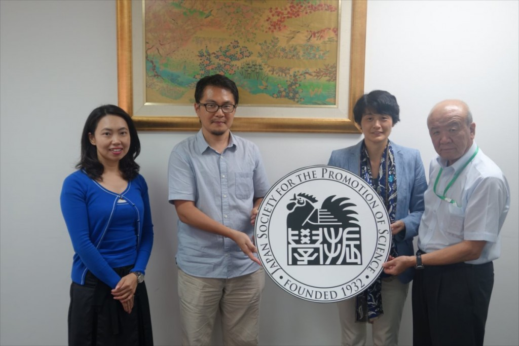 古屋副センター長、相澤准教授、直井研究員、山下センター長