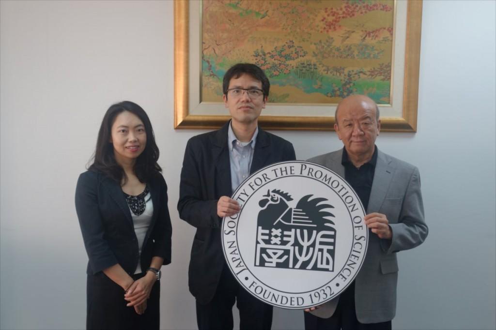 古屋副センター長、西澤教授、山下センター長