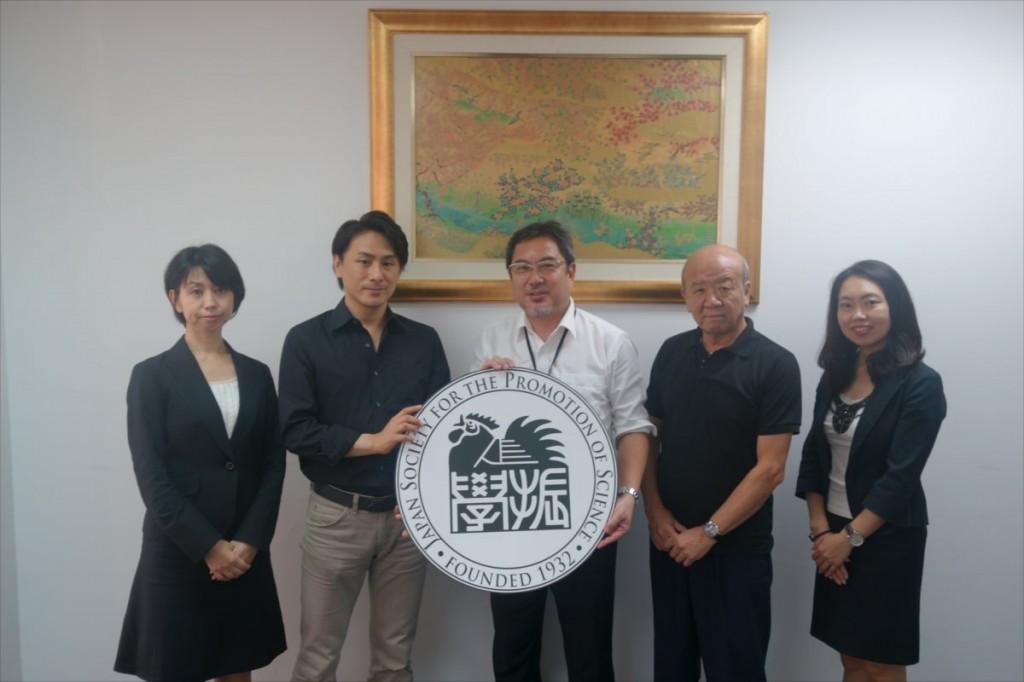 小森准教授、岩井准教授、望月センター長、山下センター長、古屋副センター長