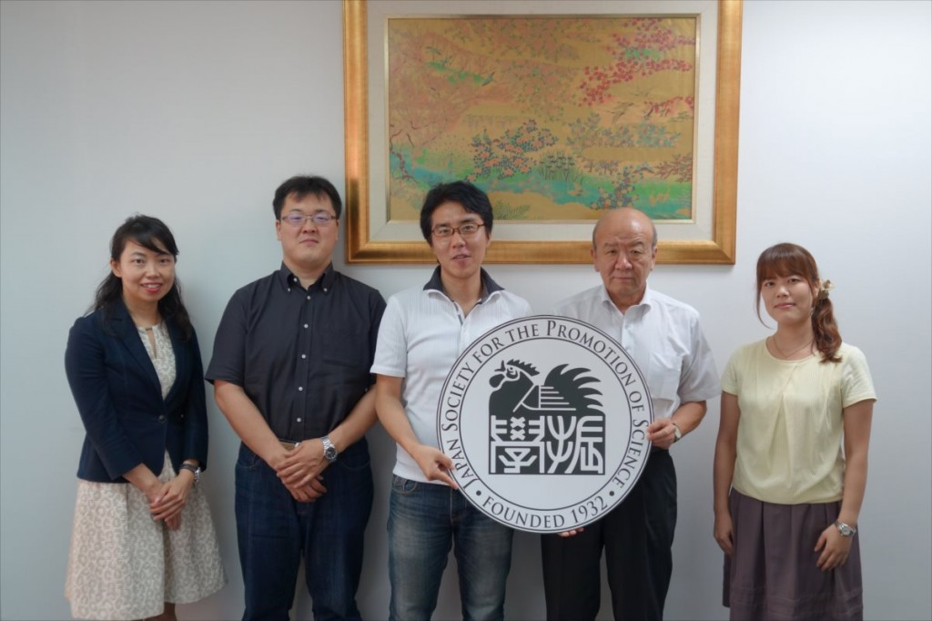 古屋副センター長、濱中准教授、尾﨑助教、山下センター長、野田職員