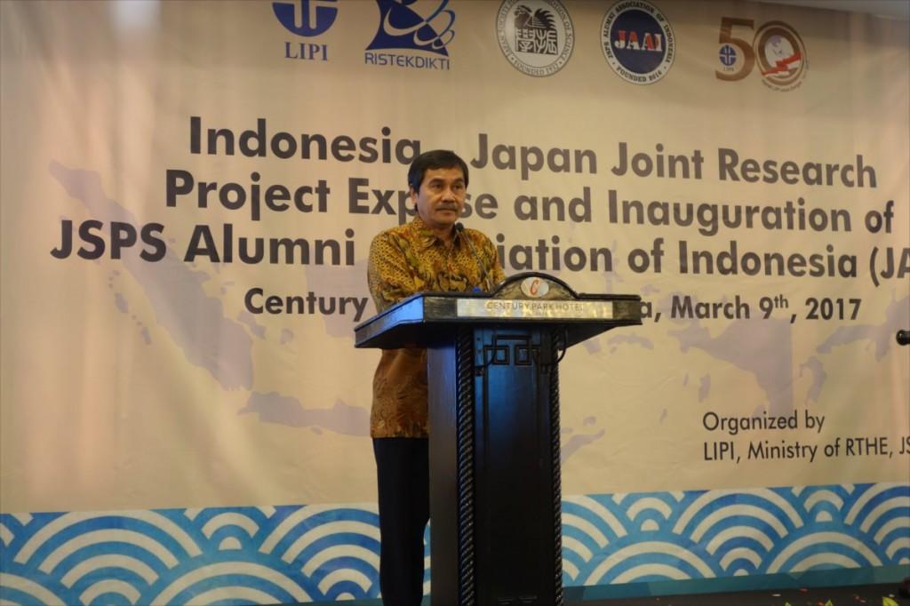 Dr. Muhammad Dimyati 総局長(研究開発強化担当)代理(RISTEKDIKTI)による挨拶