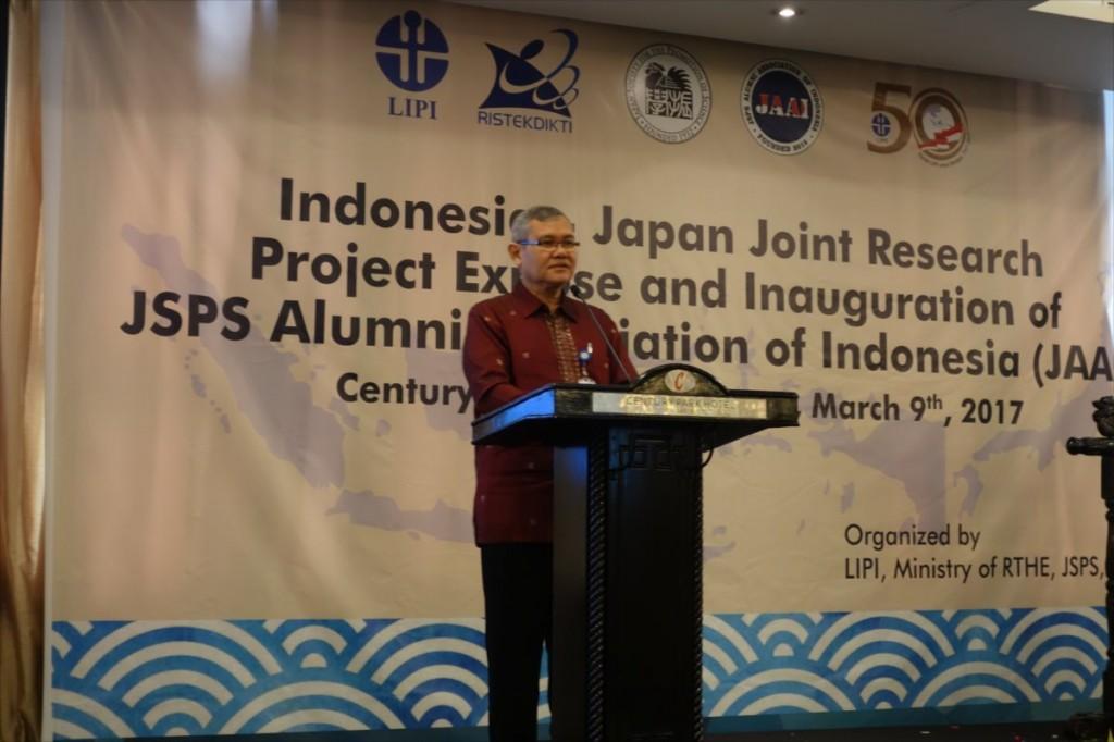 Prof. Dr. Iskandar Zulkarnain院長(LIPI)による挨拶