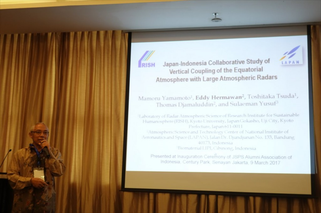 Prof. Dr. Eddy Hermawan (LAPAN)による講演
