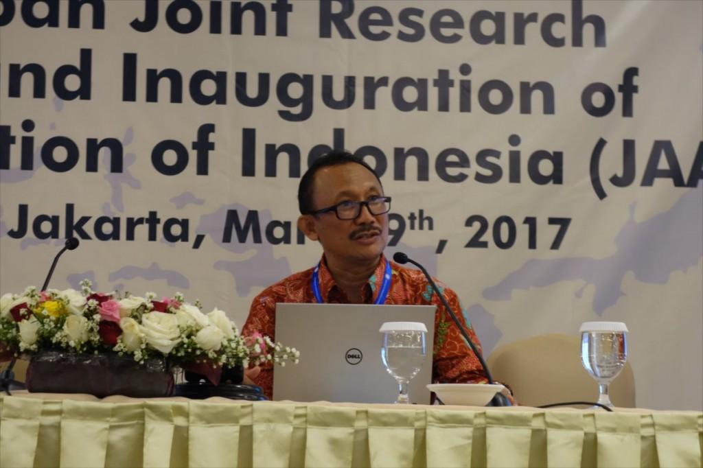 Prof. Dr. Irfan D. Prijambada(UGM)による講演