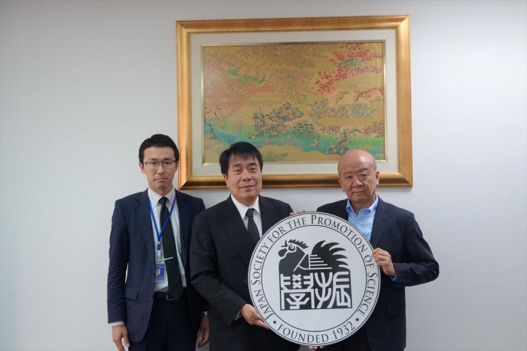 大沼氏、小澤執行副頭取及び山下センター長