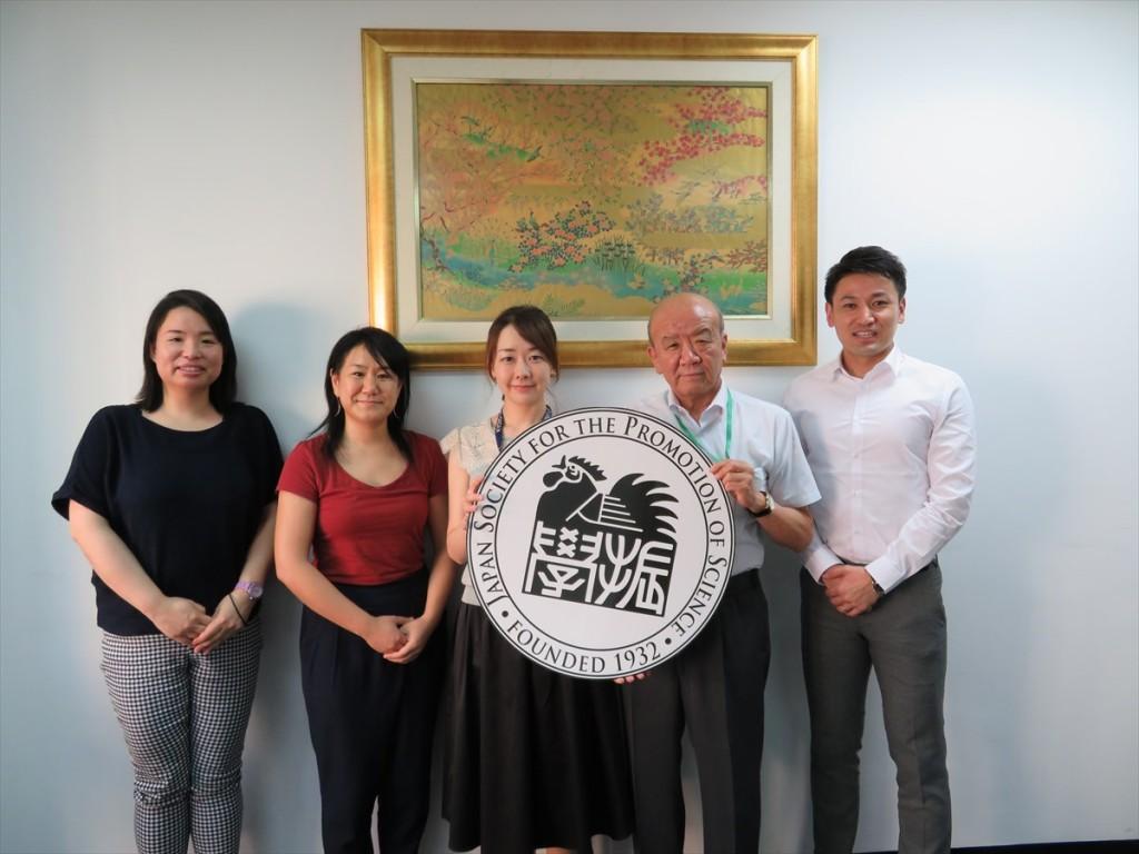 土肥国際協力員、大澤副所長、鶴房職員、山下センター長、斉藤国際協力員