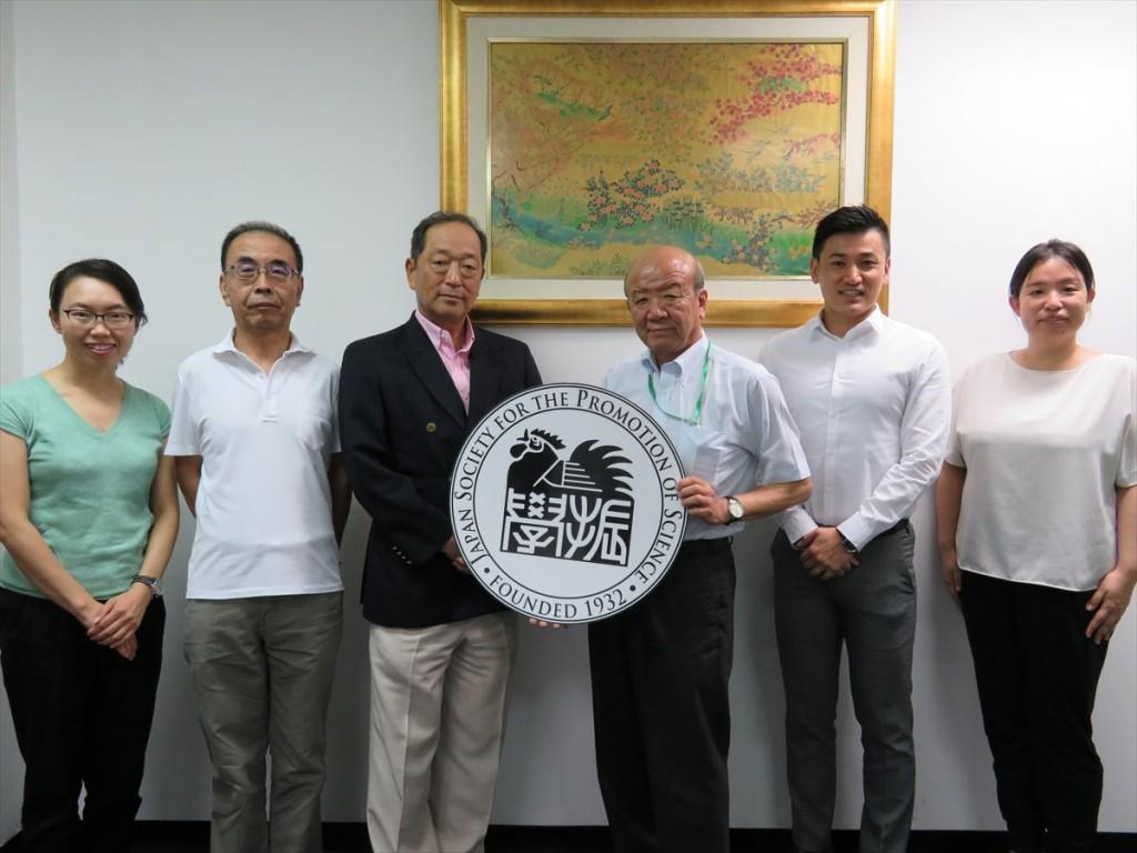 古屋副センター長、柴山所長、平松名誉教授、山下センター長、斉藤国際協力員、土肥国際協力員