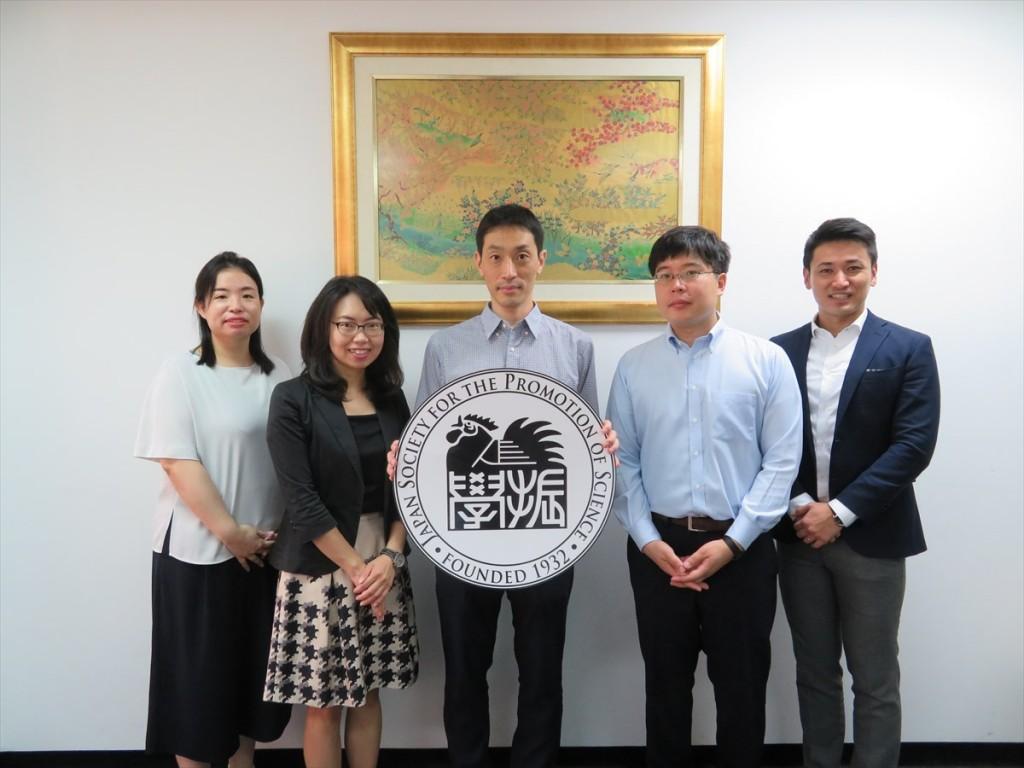 土肥国際協力員、古屋副センター長、生方准教授、下条研究員、斉藤国際協力員