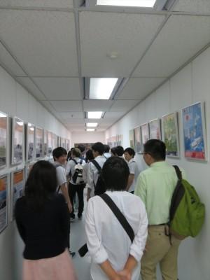 JSPSバンコクセンターに掲示してある「大学紹介」ポスター