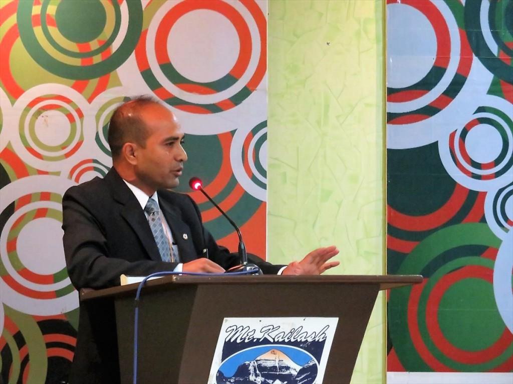 Dr. Kayastha会長の挨拶
