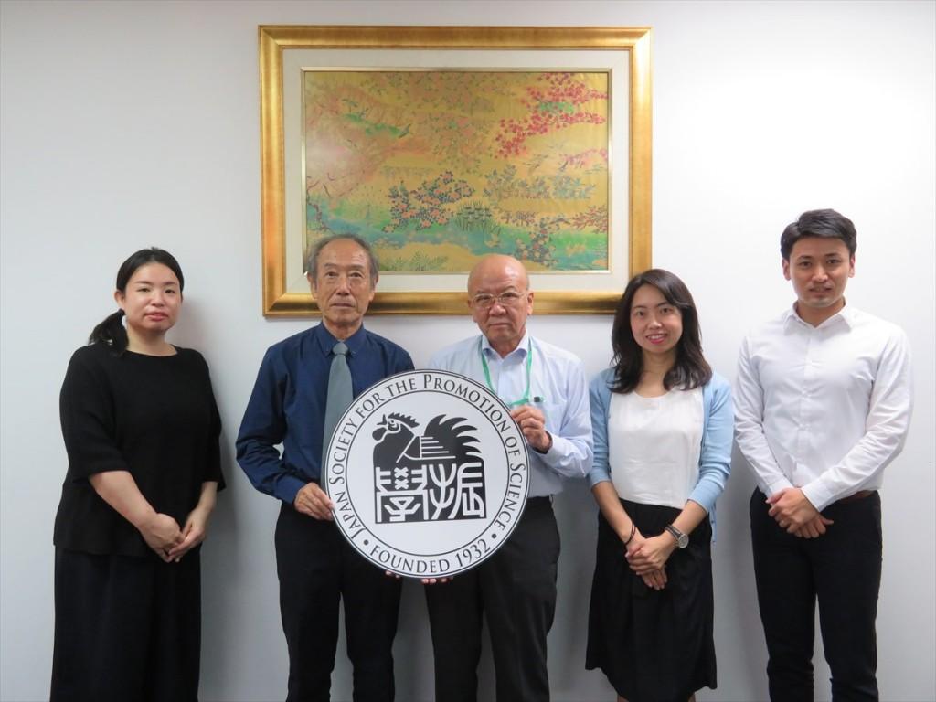 土肥国際協力員、副田センター長、山下センター長、古屋副センター長、斉藤国際協力員
