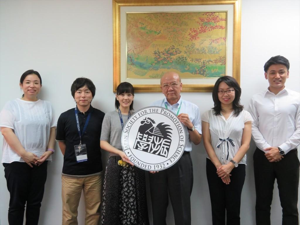 土肥国際協力員、鈴木副所長、吉松職員、山下センター長、古屋副センター長、斉藤国際協力員