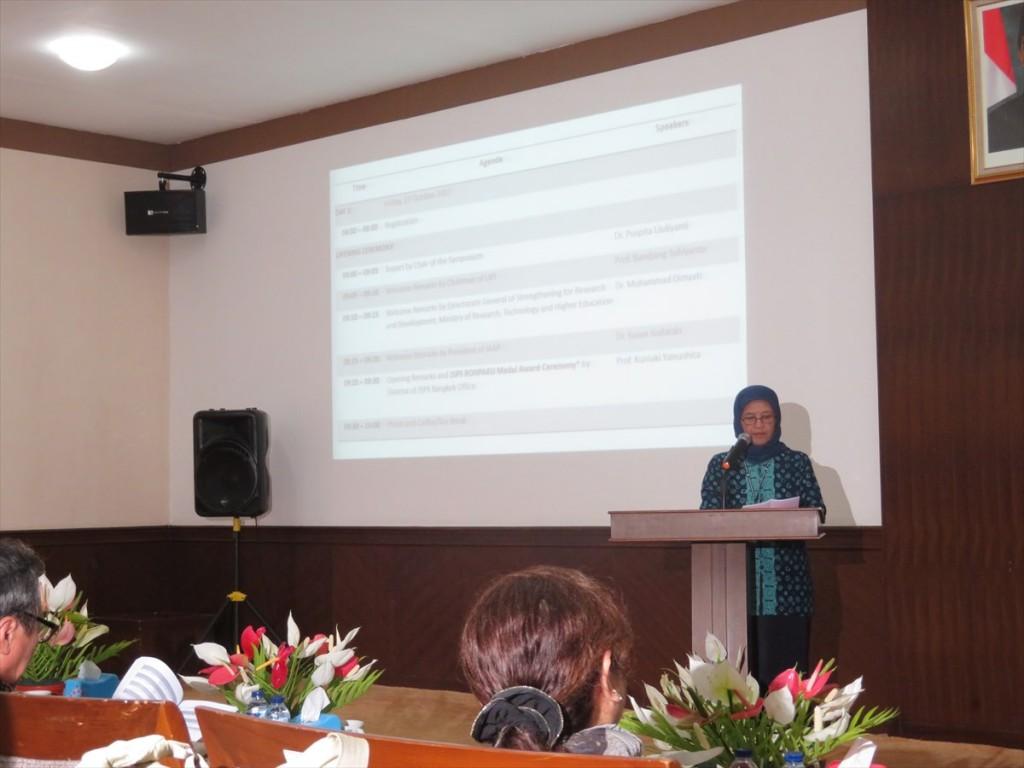 インドネシア科学院(LIPI) Dr. Siti Noermali yati Purnomo事務局長