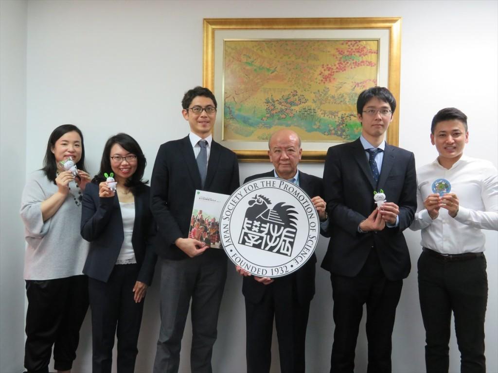土肥国際協力員、古屋副センター長、東課長、山下センター長、中西職員、斉藤国際協力員
