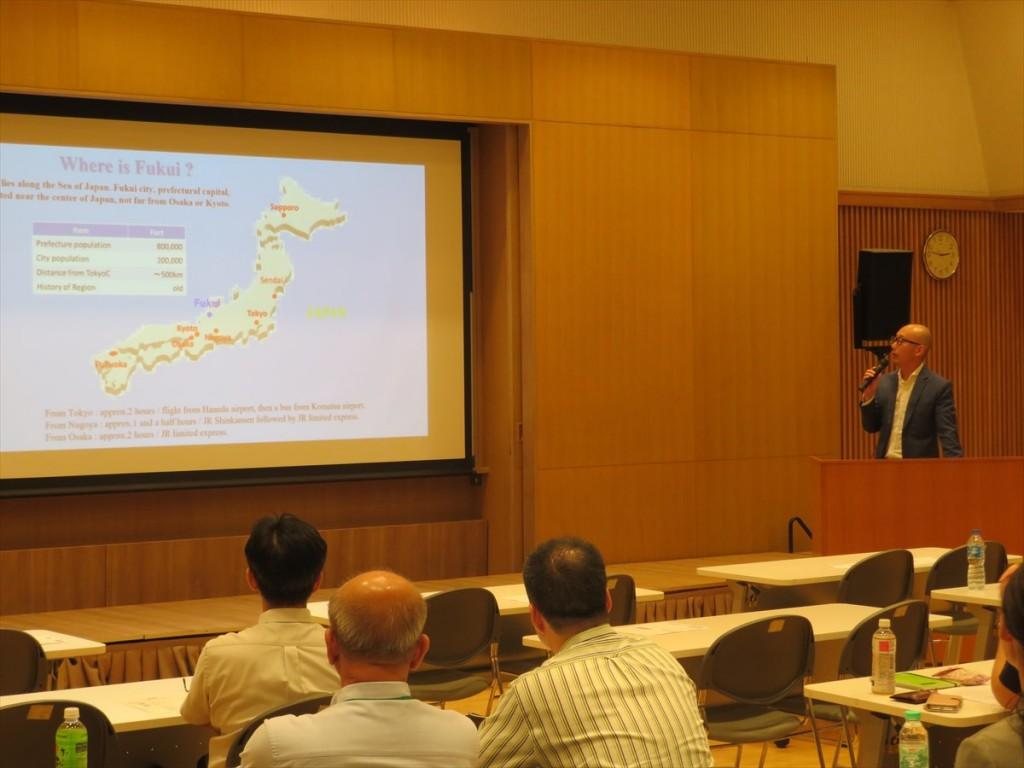 福井工業大学ASEAN事務所 の活動紹介の様子