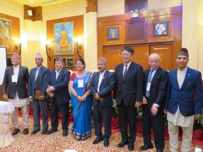 来賓およびNJAA理事会メンバーとの集合写真