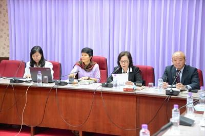 Ms. Pimpun, Director of Office of International Affairs, NRCT explained international programs.