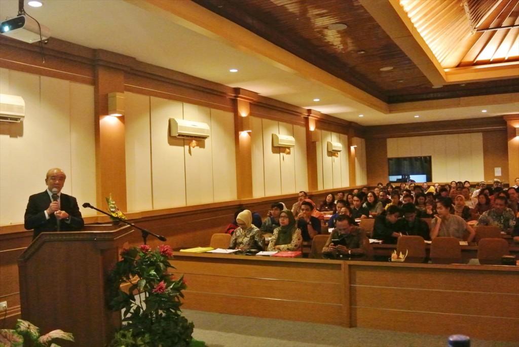 Prof. Yamashita delivered presentation