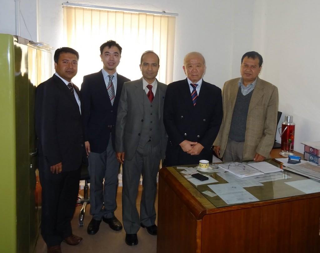 With Mr. Radha Krishna Ghimire, Under Secretary of MOE