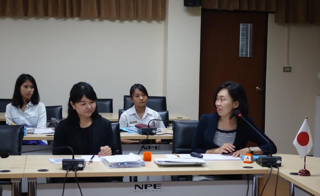 Program briefing by  JSPS Bangkok Office
