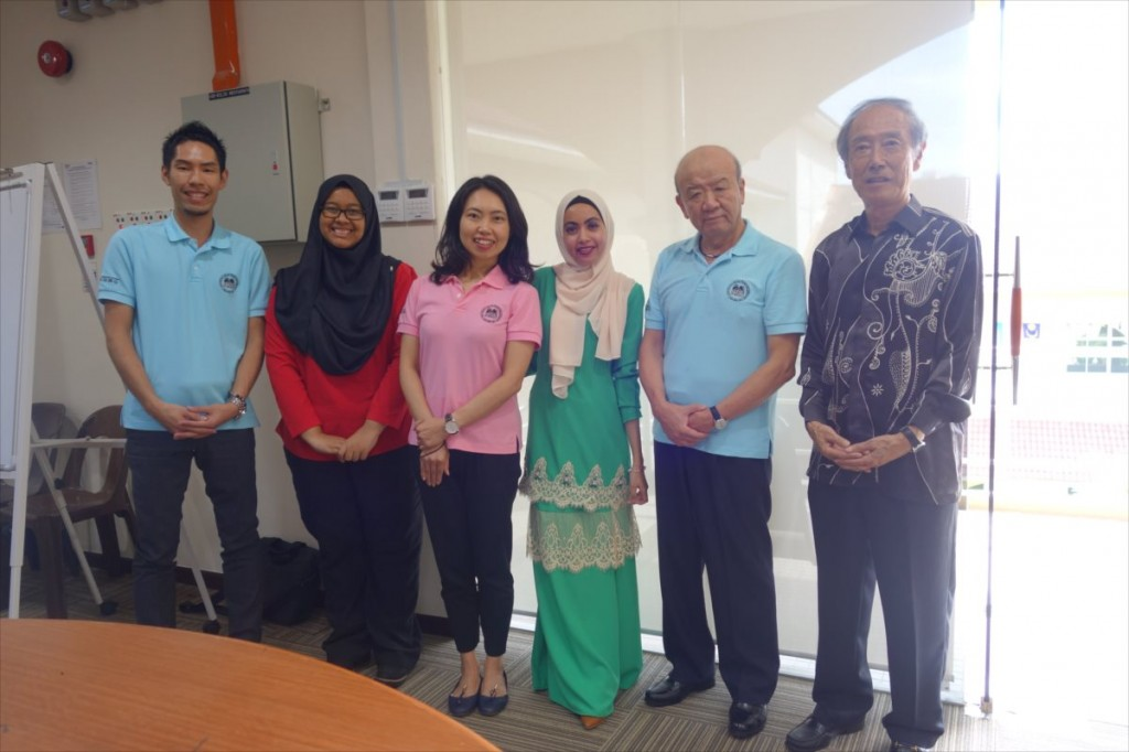 with USM staff