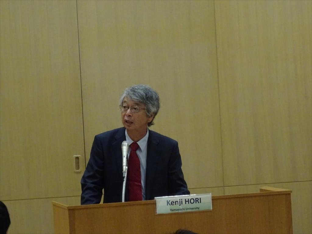 Prof. Kenji Hori, Vice President of Yamaguchi University