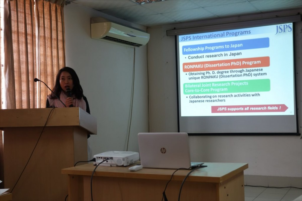 Ms. Furuya, Deputy Director of JSPS Bangkok Office